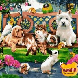 Купить картину по номерам Mariposa Домашние животные в парке, 40*50 см, Q2227