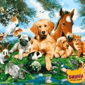 Купить картину по номерам Mariposa Домашние животные, 40*50 см, Q2228