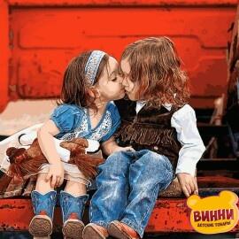 Купить картину по номерам Mariposa Первый поцелуй, 40*50 см, Q2229