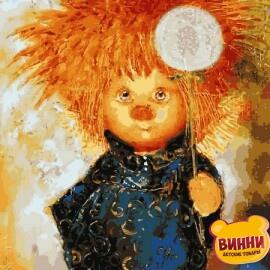 Купить картину по номерам Babylon Солнечный ангел с одуванчиком, 30*40 см VK231