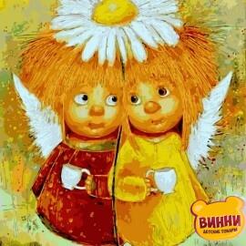 Купить картину по номерам Babylon Пара солнечных ангелов, 30*40 см VK233