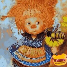 Купить картину по номерам Babylon Солнечный ангел с пчелой, 30*40 см VK234