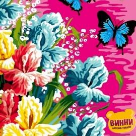 Купить картину по номерам Babylon Ирисы и бабочки, 30*40 см VK247