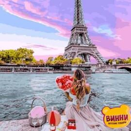 Купить картину по номерам Babylon Свидание в Париже, 40*50 см VP1237