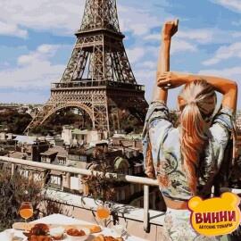 Купить картину по номерам Babylon Завтрак в Париже, 40*50 см VP1240