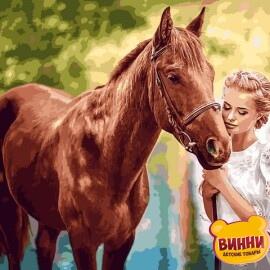 Купить картину по номерам Babylon Красота и нежность, 40*50 см VP1250