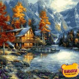 Купить картину по номерам Babylon Осеннее озеро, 50*65 см VPS1151