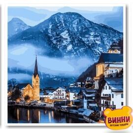 Купить триптих, картину по номерам Babylon Зимняя Австрия, VPT051
