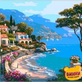 Купить картину по номерам Babylon Райский уголок, 40*50 см VP003