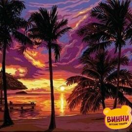 Купить картину по номерам Babylon Закат в тропиках, 30*40 см VK044