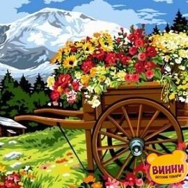 Купить картину по номерам Babylon Тележка цветочника, 30*40 см VK093
