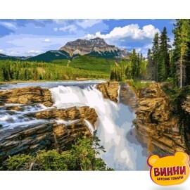 Купить картину по номерам Babylon Водопад в чаще леса, 40*50 см VP1093