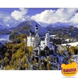 Купить картину по номерам Babylon Замок Нойшванштайн зимой, 40*50 см VP1094