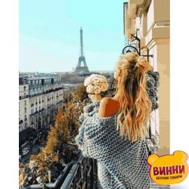 Купить картину по номерам Babylon Балкон в Париже, 40*50 см VP1097