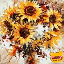 Купить картину по номерам Mariposa Солнечные цветы, 40*50 см Q1121