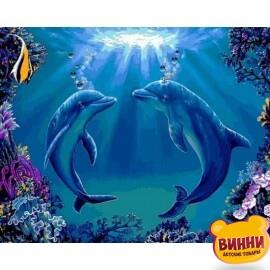 Купить картину по номерам Babylon Танец дельфинов, 40*50 см VP1141