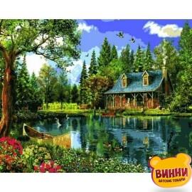 Купить картину по номерам Babylon Летний день у озера, 40*50 см VP1146