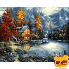 Купить картину по номерам Babylon Осенние озеро, 40*50 см VP1151