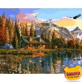 Купить картину по номерам Babylon Закат над озером, 40*50 см VP1160