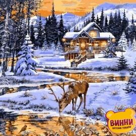 Купить картину по номерам Babylon Зимний вечер у реки, 40*50 см VP1203