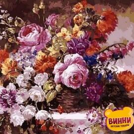 Купить картину по номерам Mariposa Роскошный букет, 40*50 см Q1363