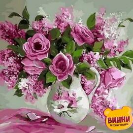Купить картину по номерам Mariposa Розовая нежность, 40*50 см Q1368