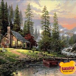 Купить картину по номерам Mariposa Охотничий домик, 40*50 см Q1441