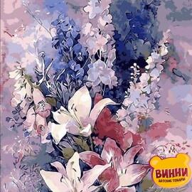 Купить картину по номерам Mariposa Розовые лилии, 40*50 см Q1445