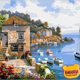 Купить картину по номерам Babylon Premium Дом на берегу океана (в раме), 40*50 см, NB211