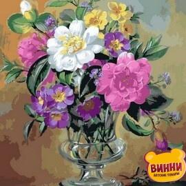 Купить картину по номерам Mariposa Розы и анютины глазки, 40*50 см Q2162