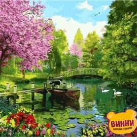Купить картину по номерам Mariposa Вишневый сад, 40*50 см Q2196