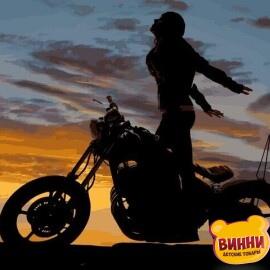 Купить картину по номерам Mariposa Мотоциклистка, 40*50 см Q2218