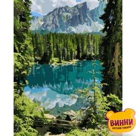 Купить картину по номерам Идейка Загадочное озеро, 40*50 см KHО2270