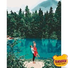 Купить картину по номерам Идейка Свидание у озера, 40*50 см KHО2271