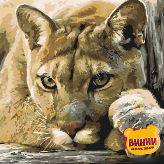 Купить картину по номерам Идейка Хищница, 40*40 см KHO2485