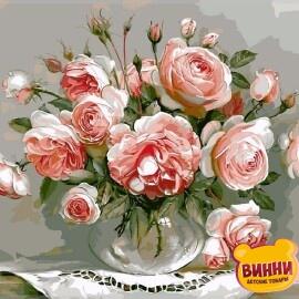 Купить картину по номерам Babylon Розовый букет, 40*50 см VP327