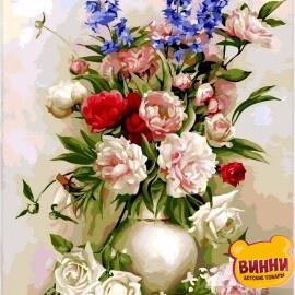 Купить картину по номерам Babylon Букет в белой вазе, 40*50 см VP328