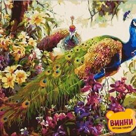 Купить картину по номерам Mariposa Сказочные павлины, 40*50 см Q348