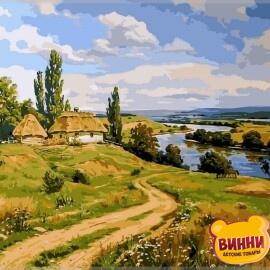 Купить картину по номерам Babylon Украинский пейзаж 2, 40*50 см VP350
