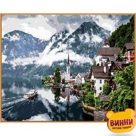 Купить картину по номерам Babylon Premium Швейцарские Альпы (в раме), 40*50 см, NB352