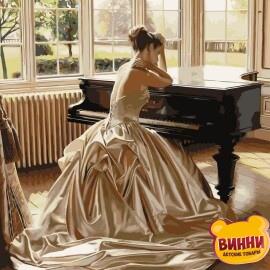 Купить картину по номерам Babylon Девушка у рояля, 40*50 см VP375