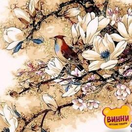 Купить картину по номерам Mariposa Королек птичка певчая, 40*50 см Q418