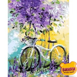 Купить картину по номерам Babylon Premium Велосипед в зарослях (в раме), 40*50 см, NB765