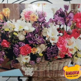 Нарисованная картина Babylon Корзинка цветочного счастья, 40*50 см VP1038