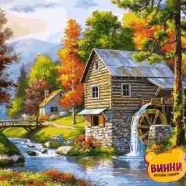 Купить картину по номерам Babylon Мельница на берегу озера, 40*50 см VP906