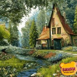 Купить картину по номерам Babylon Дом на опушке леса, 40*50 см VP918