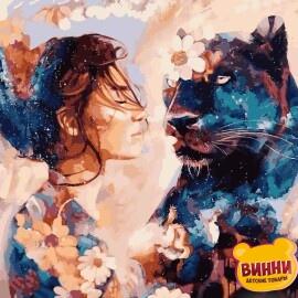 Купить картину по номерам Babylon Звездная пантера, худ Димитра Милан, 40*50 см VP967