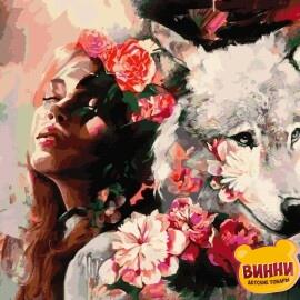 Купить картину по номерам Babylon Белая волчица, худ. Димитра Милан, 40*50 см VP976