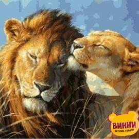 Купить картину по номерам Babylon Влюбленные львы, 40*50 см VP991