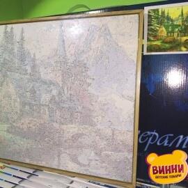 Купить картину по номерам Babylon Premium Альпийский пейзаж. Часовня (в раме), 40*50 см, NB497